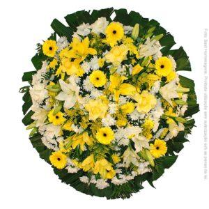 Coroa de Flores Luxo Amarela